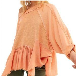 Free People Gold Duster Pullover NWOT Bermuda Sand